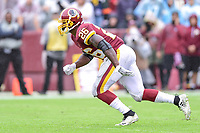Landover, MD - September 23, 2018: Washington Redskins running back Adrian Peterson (26) in action during game between the Green Bay Packers and the Washington Redskins at FedEx Field in Landover, MD. The Redskins get the win 31-17 over the visiting Packers. (Photo by Phillip Peters/Media Images International)