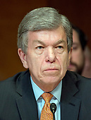 """United States Senator Roy Blunt (Republican of Missouri) listens as US Secretary of Defense James N. Mattis and the Chairman of the Joint Chiefs of Staff, US Marine Corps General Joseph F. Dunford, Jr.testify at a US Senate Committee on Appropriations Subcommittee on Defense hearing entitled """"A Review of the Budget & Readiness of the Department of Defense"""" on Capitol Hill in Washington, DC on Wednesday, March 22, 2017.<br /> Credit: Ron Sachs / CNP"""
