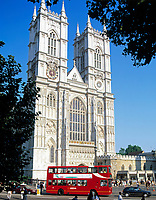 England, London: Westminster Abbey - West Front Towers   United Kingdom, London: Westminster Abbey - West Front Towers