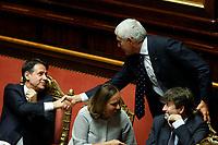Giuseppe Conte and Pier Ferdinando Casini<br /> Rome September 10th 2019. Senate. Discussion and Trust vote at the new Government. <br /> Foto  Samantha Zucchi Insidefoto