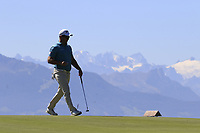 Ryan Fox (NZL) on the 7th green during Saturday's Round 3 of the 2018 Omega European Masters, held at the Golf Club Crans-Sur-Sierre, Crans Montana, Switzerland. 8th September 2018.<br /> Picture: Eoin Clarke | Golffile<br /> <br /> <br /> All photos usage must carry mandatory copyright credit (&copy; Golffile | Eoin Clarke)