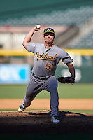 Oakland Athletics pitcher Dustin Driver (51) during an Instructional League game against the Arizona Diamondbacks on October 15, 2016 at Chase Field in Phoenix, Arizona.  (Mike Janes/Four Seam Images)