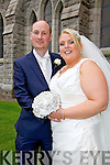 Mairead Corcoran, daughter of Mary & Francie, Ardcost, Portmagee and Kevin Nagle, son of John & Mary, Ardcanaugh, Castlemaine who were married in The Daniel O'Connell Memorial Church, Cahersiveen on Saturday, Canon Larry Kelly officiated at the ceremony.  Best man was Gary Nagle and Groomsmen were Niall Flahive & Danny Lawlor.  Maid of Honor was Deirdre Vattani assisted by Sally O'Brien & Rosetta Corcoran.  Flower Girl Sophie Vattani & Page Boys were David Corcoran, Sean & Darra Nagle.  The reception was held at The Ring of Kerry Hotel, Cahersiveen and the couple will reside in Milltown.