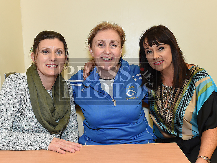 Noelle Bowe, Grainne Berrill and Maria Clarke at the Comhaltas Céilí in Ballsgrove Community Centre. Photo:Colin Bell/pressphotos.ie