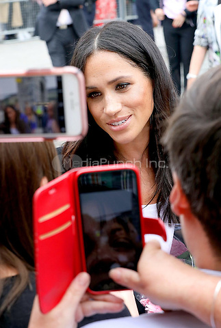 Meghan, The Duchess of Sussex leaves at the EPIC Museum in Dublin, on July 11, 2018, the interactive museum tells the story of the 10 million Irish people who have emigrated across the world, on the last of a 2 days visit to Dublin  <br /> Photo : Albert Nieboer / /DPA /MediaPunch ***FOR USA ONLY***