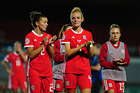 Sophie Ingle (C) of Wales applauds the fans at the final whistle during the UEFA Womens Euro Qualifier match between Wales and Northern Ireland at Rodney Parade in Newport, Wales, UK. Tuesday 03, September 2019