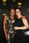 Deborah Koenigsberger - Founder & CEO of Hearts of Gold poses with Inge Zegwaard at the annual All That Glitters Gala - 24 years of support to New York City's homeless mothers and their cildren - (VIP Reception - Silent Auction) was held on November 7, 2018 at Noir et Blanc and the 40/40 Club in New York City, New York.  (Photo by Sue Coflin/Max Photo)