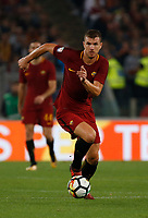 Edin Dzeko  during the  italian serie a soccer match, AS Roma -  SSC Napoli       at  the Stadio Olimpico in Rome  Italy , 14 ottobre 2017