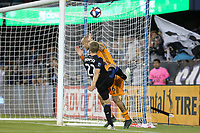 SAN JOSE, CA - JUNE 26: Tommy Thompson #22, Kiki Struna #6 during a Major League Soccer (MLS) match between the San Jose Earthquakes and the Houston Dynamo on June 26, 2019 at Avaya Stadium in San Jose, California.