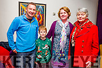 Enjoying the Bryan Carr's Stage School Production of  'Kris Kringle Christmas' Musical at Siamsa Tire on Sunday were l-r  David Sheehy, Jack Sheehy, Helen Sheehy and Margaret Sheehy.