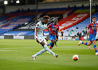 7th July 2020; Selhurst Park, London, England; English Premier League Football, Crystal Palace versus Chelsea; Tammy Abraham of Chelsea shoots to score his sides 3rd goal in the 71st minute to make it 3-1