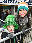 Siobhan and Braeden Harrison at the St. Patrick's day parade in Ardee. Photo:Colin Bell/pressphotos.ie