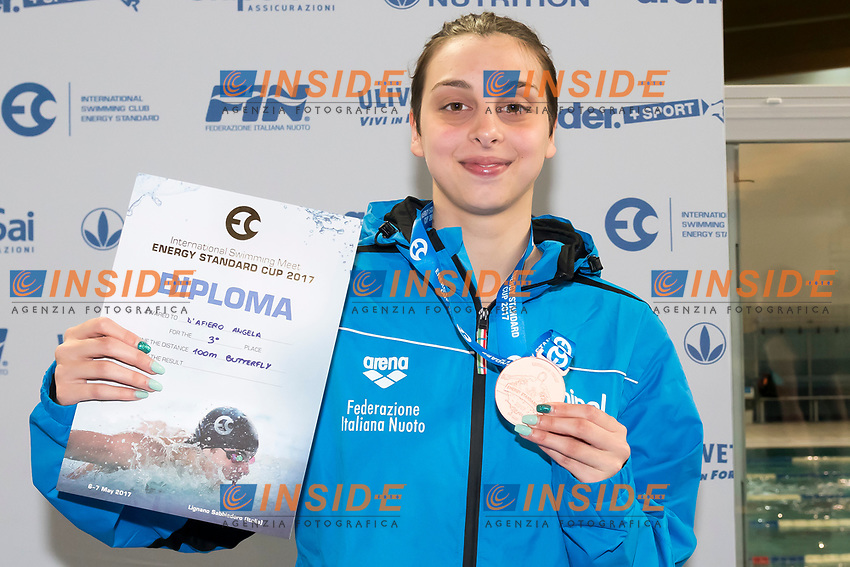 Junior Girls' 100m Butterfly <br /> D'AFIERO Angela ITALY Bronze Medal <br /> Lignano Sabbiadoro 07-05-2017 Ge.Tur Complex <br /> Energy Standard Cup 2017 Nuoto<br /> Photo Andrea Staccioli/Deepbluemedia/Insidefoto
