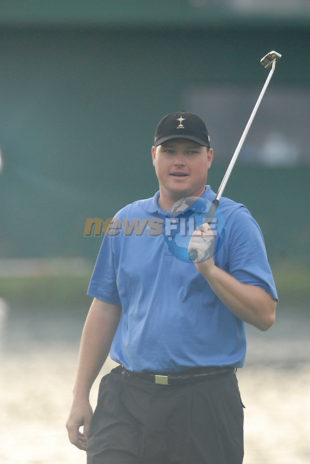 23rd September, 2006. .American Ryder Cup Team player Chad Campbell on the 18th green during the afternoon foursomes session of the second day of the 2006 Ryder Cup at the K Club in Straffan, County Kildare in the Republic of Ireland..Photo: Eoin Clarke/ Newsfile.