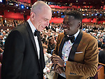 04.03.2018; Hollywood, USA: DANIEL DAY LEWIS AND DANIEL KALUUYA<br /> at the 90th Annual Academy Awards held at the Dolby&reg; Theatre in Hollywood.<br /> Mandatory Photo Credit: AMPAS/Newspix International<br /> <br /> IMMEDIATE CONFIRMATION OF USAGE REQUIRED:<br /> Newspix International, 31 Chinnery Hill, Bishop's Stortford, ENGLAND CM23 3PS<br /> Tel:+441279 324672  ; Fax: +441279656877<br /> Mobile:  07775681153<br /> e-mail: info@newspixinternational.co.uk<br /> Usage Implies Acceptance of Our Terms &amp; Conditions<br /> Please refer to usage terms. All Fees Payable To Newspix International