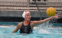 Mar 11, 2015; Claremont, CA, USA; Occidental College Tigers goalkeeper Anna De Groot (1) against the Pomona-Pitzer Sagehens at Pomona-Pitzer. Photo by Kirby Lee