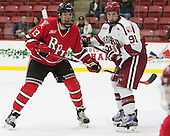Jared Wilson (RPI - 13), Jake Horton (Harvard - 91) - The Harvard University Crimson defeated the visiting Rensselaer Polytechnic Institute Engineers 5-2 in game 1 of their ECAC quarterfinal series on Friday, March 11, 2016, at Bright-Landry Hockey Center in Boston, Massachusetts.