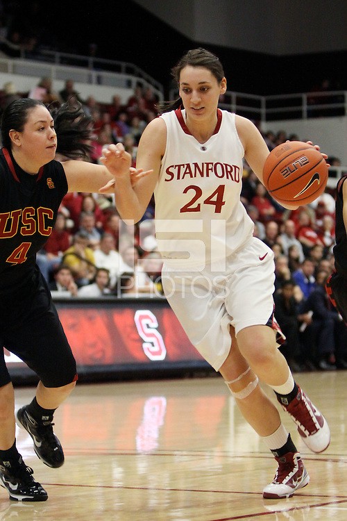 STANFORD, CA - FEBRUARY 7:  Ashley Cimino of the Stanford Cardinal during Stanford's 77-39 win over USC on February 7, 2010 at Maples Pavilion in Stanford, California.