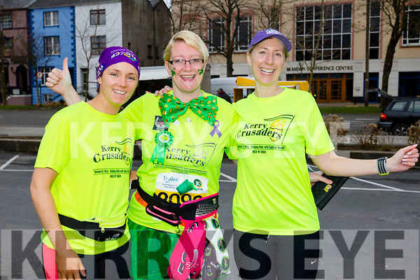Siobhan Dowling, Mary Twomey and Diana Doyle, Listowel runners at the Kerry's Eye Tralee, Tralee International Marathon and Half Marathon on Saturday.