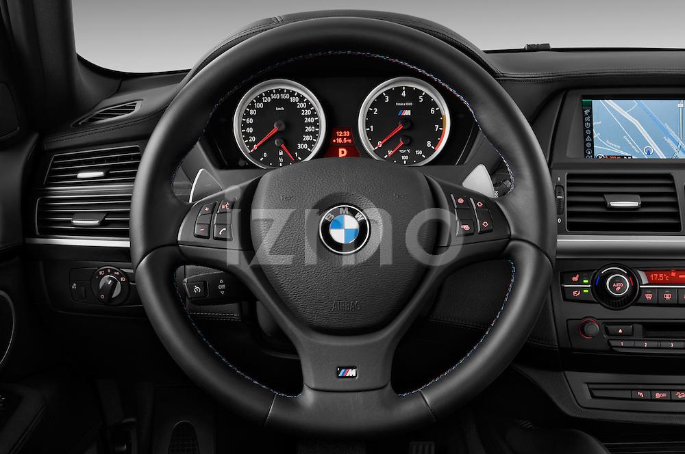 Steering wheel view of a 2013 Bmw X6 M 5 Door Suv 4WD
