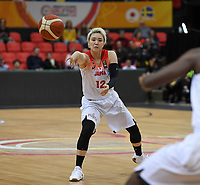 20200206 – OOSTENDE ,  BELGIUM : Japanese Asami Yoshida (12) pictured during a basketball game between the national teams of Japan and Sweden on the first matchday of the FIBA Women's Qualifying Tournament 2020 , on Thursday 6  th February 2020 at the Versluys Dome in Oostende  , Belgium  .  PHOTO SPORTPIX.BE | DAVID CATRY
