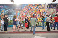 Murals in Highland Park. CSP 50S: Living Los Angeles Colloquium, taught by Regina Freer, Donna Maeda, Martha Matsuoka and Leila Neti on Feb. 1, 2013.<br /> (Photo by Marc Campos, Occidental College Photographer)