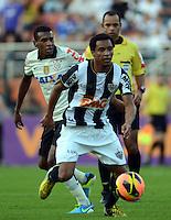 SAO PAULO SP, 14 Julho 2013 - Corinthians x Atletico MG.   Lance  durante partida valida pela setima rodada do campeonato brasileiro de 2013  no Estadio do Pacaembu em  Sao Paulo, neste domingo , 14. (FOTO: ALAN MORICI / BRAZIL PHOTO PRESS).