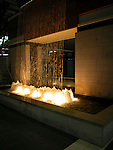 Lighted fountain at night<br />