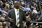 Nevada Head Coach David Carter reacts on the sidelines of a second round NIT college basketball game against Bucknell, in Reno, Nev. , on Sunday, March 18, 2012. Nevada won 75-67..Photo by Cathleen Allison