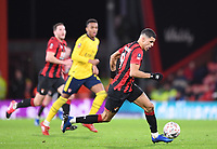 27th January 2020; Vitality Stadium, Bournemouth, Dorset, England; English FA Cup Football, Bournemouth Athletic versus Arsenal; Dominic Solanke of Bournemouth brings the ball forward
