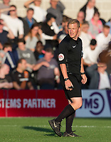 Referee during the 2017/18 Pre Season Friendly match between Barnet and Swansea City at The Hive, London, England on 12 July 2017. Photo by Andy Rowland.