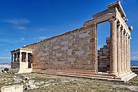 The Erechtheion (421 B.C.) on the Athenian Acropolis, Greece