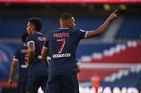 21st July 2020, Parc de Princes, Paris, France; Friendly club football, PSG versus Celtic;   Kylian MBAPPE of PSG celebrates a goal