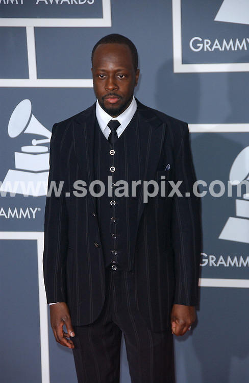 **ALL ROUND PICTURES FROM SOLARPIX.COM**.**SYNDICATION RIGHTS FOR UK, AUSTRALIA, DENMARK, PORTUGAL, S. AFRICA, SPAIN & DUBAI (U.A.E) ONLY**.arrivals for the 52nd Annual GRAMMY Awards at the Staples Center at the Los Angeles, CA, USA. 31 January 2010..This pic: Wyclef Jean..JOB REF: 10591 PHZ Ortega   DATE: 31_01_2010.**MUST CREDIT SOLARPIX.COM OR DOUBLE FEE WILL BE CHARGED**.**MUST NOTIFY SOLARPIX OF ONLINE USAGE**.**CALL US ON: +34 952 811 768 or LOW RATE FROM UK 0844 617 7637**