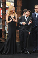 NON EXCLUSIVE PICTURE: PAUL TREADWAY / MATRIXPICTURES.CO.UK.PLEASE CREDIT ALL USES..WORLD RIGHTS..American actress Heather Graham and actor Ken Jeong attending the European premiere of The Hangover Part 3, at the Empire Cinema in Leicester Square, London...MAY 22nd 2013..REF: PTY 133458