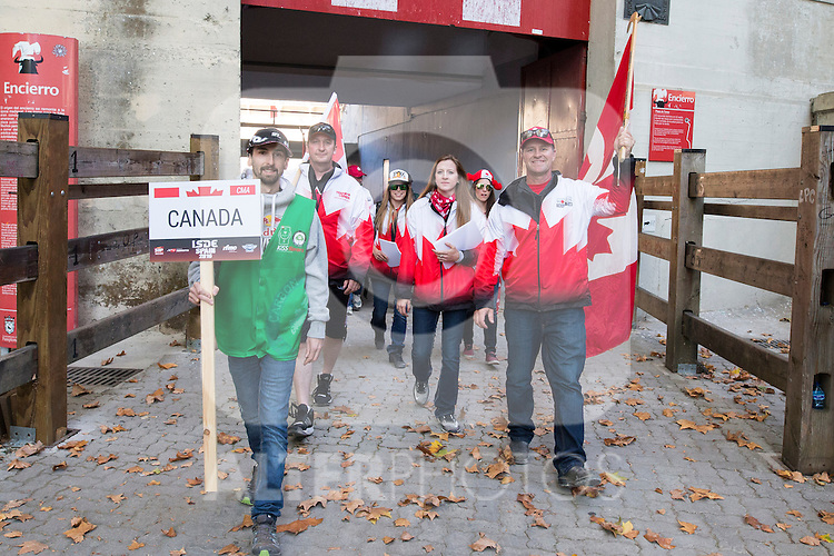 Canada enduro team during the presentation of the FIM international six days of enduro 2016 in Pamplona, Spain. October 09, 2016. (ALTERPHOTOS/Rodrigo Jimenez)