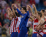 Vicente calderon Stadium. Madrid. Spain. 09/04/2014. Match between Barcelona and Atletico Madrid, Champions League. The image shows: