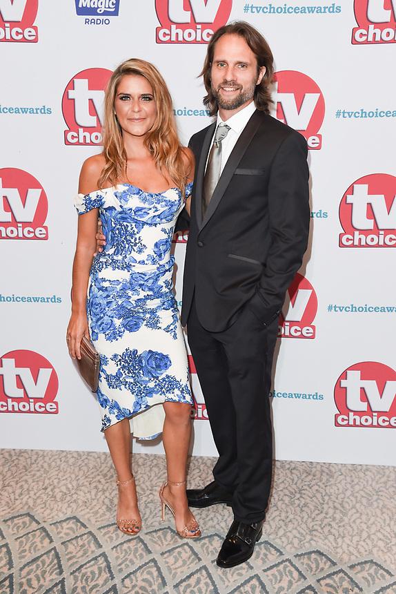 Gemma Oaten and Scott Walker<br /> arriving for the TV Choice Awards 2017 at The Dorchester Hotel, London. <br /> <br /> <br /> ©Ash Knotek  D3303  04/09/2017