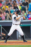 Tyler Young (5) of the Bowling Green Hot Rods at bat against the Quad Cities River Bandits at Bowling Green Ballpark on July 26, 2014 in Bowling Green, Kentucky.  The River Bandits defeated the Hot Rods 9-2.  (Brian Westerholt/Four Seam Images)