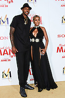 HOLLYWOOD, LOS ANGELES, CA, USA - JUNE 09: Carmelo Anthony, LaLa Anthony at the Los Angeles Premiere Of Screen Gems' 'Think Like A Man Too' held at the TCL Chinese Theatre on June 9, 2014 in Hollywood, Los Angeles, California, United States. (Photo by David Acosta/Celebrity Monitor)