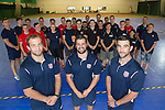 MPCT Sports Academy<br /> Cardiff Central Youth Club<br /> Reuben Tucker, Ryan James and Tom Riley with students.<br /> 20.09.16<br /> ©Steve Pope-Fotowales