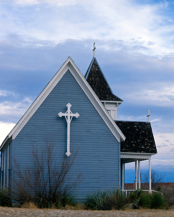 St. Stevens Episcopal Church (1896) in Pecos County; Ft. Stockton, TX