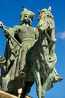 One of the Hungarian Chieftans - H?sök tere, ( Heroes Square ) Budapest Hungary