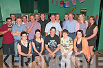 30th Birthday: Gerard O'Keeffe, centre front, Kilmaney , Kilmorna, celebtrating his 30th birthday with family and friends at The Kingdom Bar in Listowel on Saturday night last.