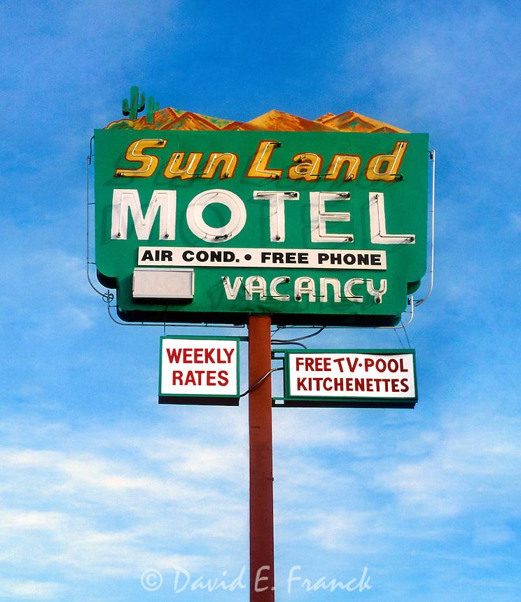 Sun Land Motel sign in Tucson, Arizona