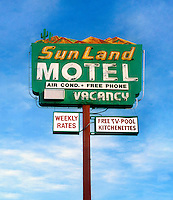 Sun Land Motel sign in Tucson, Arizona