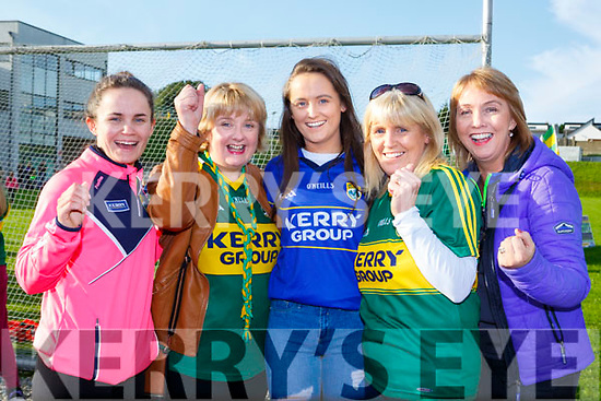 Sharon Breen, Mary O'Connell, Michaela Breen, Mary Breen, and Maura O'Connell Cordal cheering on the Kerry minors at the homecoming to Killarney on Monday evening