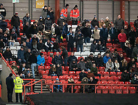 Huddersfield Town fans<br /> <br /> Photographer David Horton/CameraSport<br /> <br /> The EFL Sky Bet Championship - Bristol City v Huddersfield Town - Saturday 30th November 2019 - Ashton Gate Stadium - Bristol<br /> <br /> World Copyright © 2019 CameraSport. All rights reserved. 43 Linden Ave. Countesthorpe. Leicester. England. LE8 5PG - Tel: +44 (0) 116 277 4147 - admin@camerasport.com - www.camerasport.com