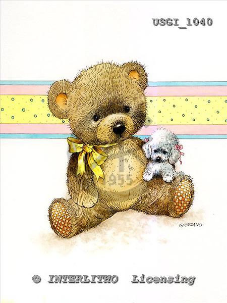 GIORDANO, CUTE ANIMALS, LUSTIGE TIERE, ANIMALITOS DIVERTIDOS, Teddies, paintings+++++,USGI1040,#AC# teddy bears