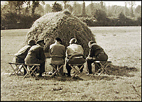 BNPS.co.uk (01202 558833)<br /> Pic: BNPS<br /> <br /> Montgomery and Bradley (3rd/4th left) deep in discussion in a field somewhere in Normandy<br /> <br /> Fascinating maps issued to a leading Allied commander on D-Day to inform him of the location of British, US, and German forces during the Normandy landings have been unearthed after 73 years.<br /> <br /> US General Omar Bradley was given the maps at 2400 each night to get an up to date picture of the progress of Operation Overlord - the Allied invasion of France.<br /> <br /> On D-Day Bradley commanded 3 Corp directed against Utah and Omaha beaches. He subsequently planned Operation Cobra, the breakout from the Normandy beachhead. <br /> <br /> Bradley used the maps - which have emerged for auction - to help formulate a daily plan of action as the Allied forces sought to gain a foothold in northern France.<br /> <br /> The maps date from June 6, 1944 - the day of the Normandy landings - June 7 and June 8 and reveal the state of affairs at midnight each day.